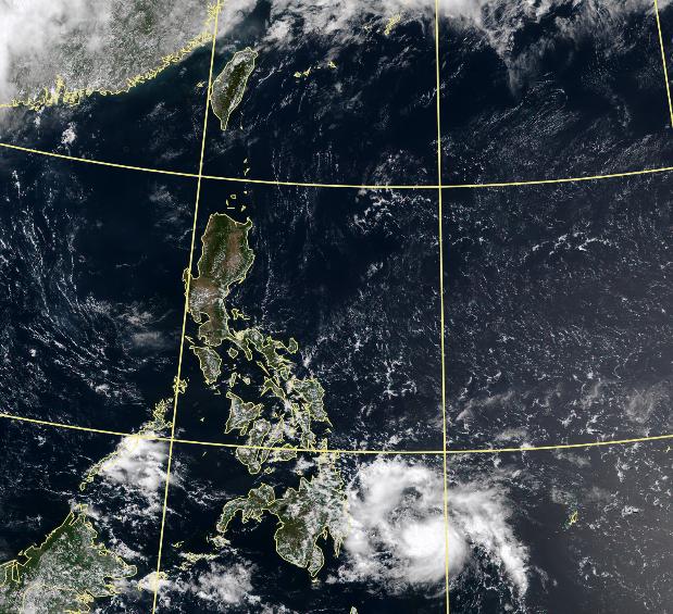 菲東熱帶低壓TD03上午生成。(擷取自中央氣象局)