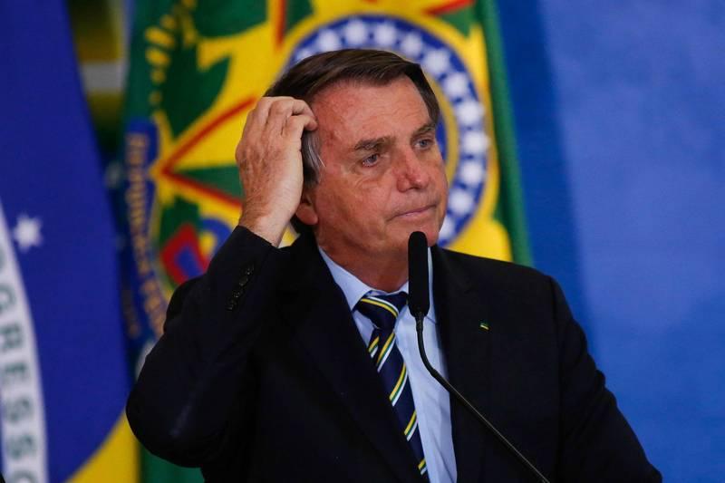 最新民調顯示,巴西總統波索納洛的支持度跌至他上任以來最低。(法新社資料照)