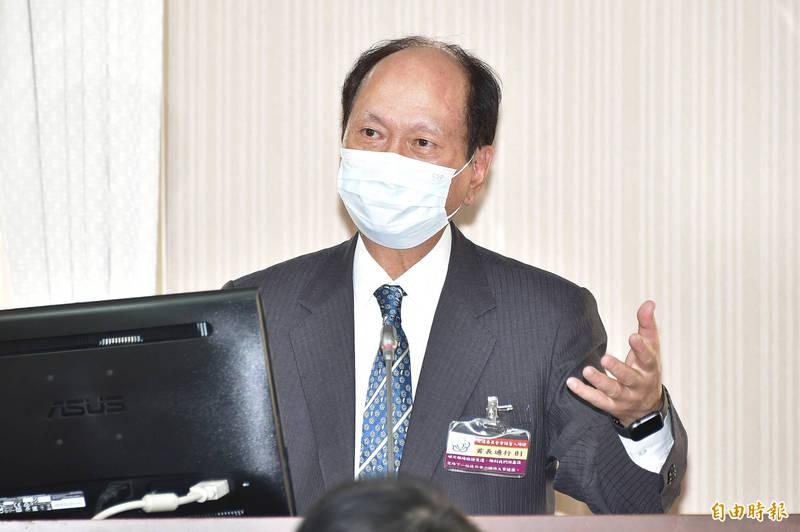 工程會主委吳澤成今13日出席立法院交通委員會備詢。(記者塗建榮攝)
