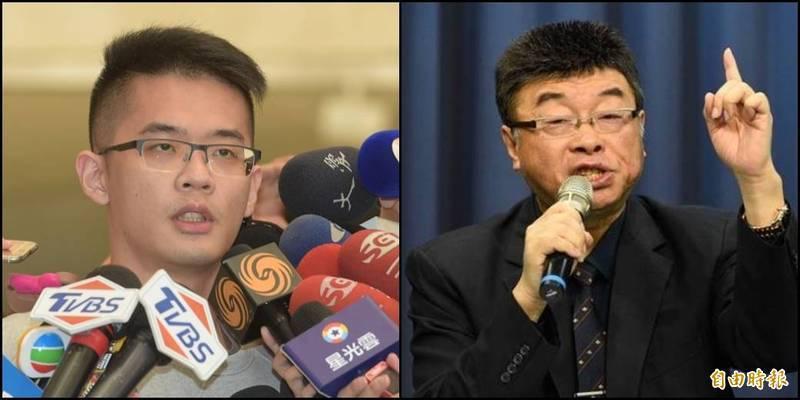 邱毅(右)不服被判有罪,在臉書痛罵法官「恐龍」;李戡(左)則在臉書宣布要讓中共「繼續難看」。(資料照,本報合成)