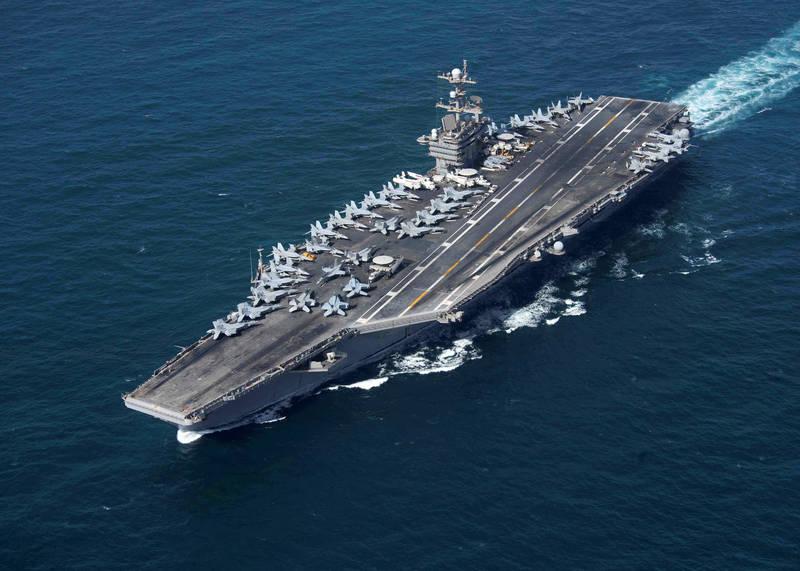 美國航空母艦「史坦尼斯號」(USS John C. Stennis CVN-74)宣布升級計畫。(路透)