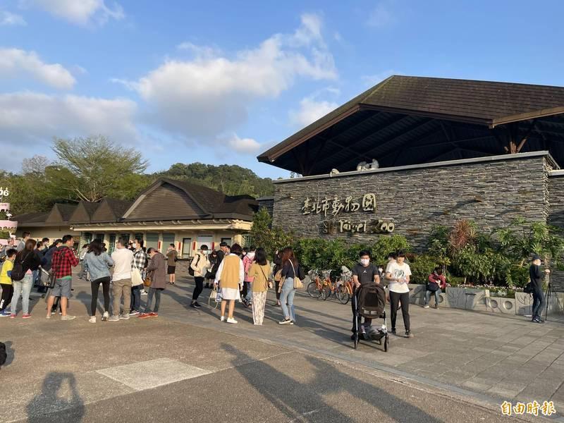 台北市立動物園明起到6月8日將封園。(記者蔡亞樺攝)