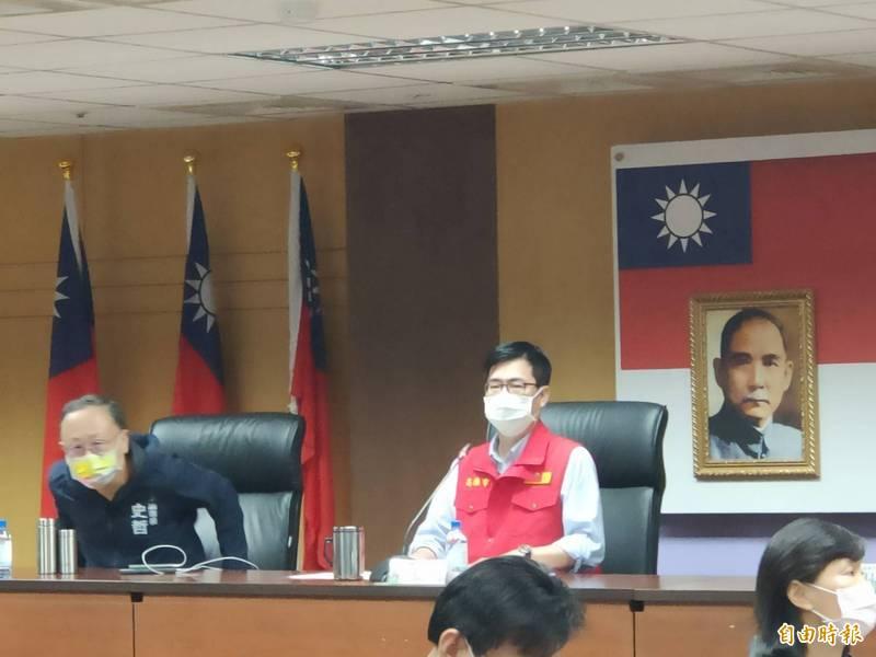 陳其邁宣布,高雄市進入準三級防疫準備。(記者葛祐豪攝)