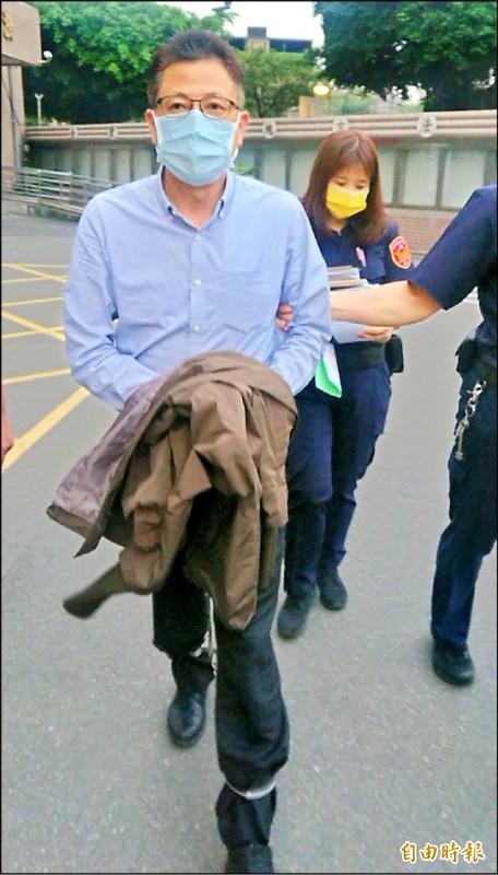 少將張大偉因涉嫌收賄被法院裁定羈押。(記者王定傳攝)