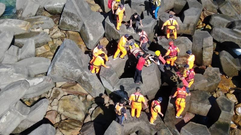 彰化21歲黃姓男子到台中港戲水,意外溺斃。(記者歐素美翻攝)