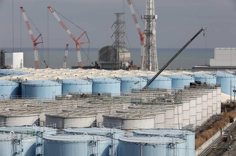 日本東京福島第一核電廠,因為儲水罐老舊而漏水。(歐新社)