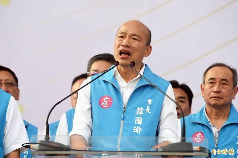 韓國瑜在台灣疫情拉警報時,忙著重提舊事,批評政府。(資料照,記者張忠義攝)