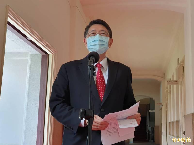 立法院秘書長林志嘉。(記者謝君臨攝)