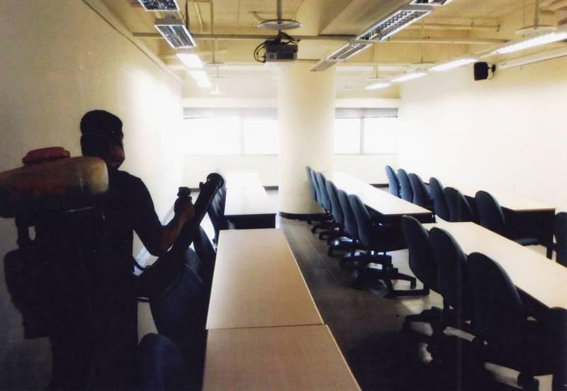 銘傳大學桃園校區有2名大四學生確診,校方緊急針對全校大消毒,2人足跡區域也加強。(銘傳大學提供)