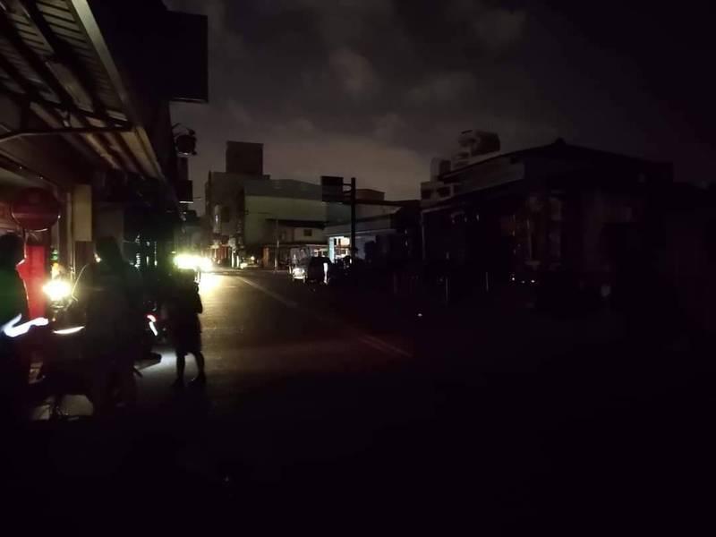 宜蘭縣今晚8點起陸續傳出停電。(圖擷取自宜蘭知識+)