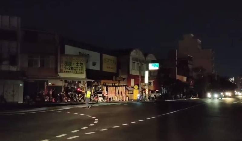 台電今晚突宣布分區輪流停電,台南已有部分地區停電。(圖翻攝自黃偉哲臉書)