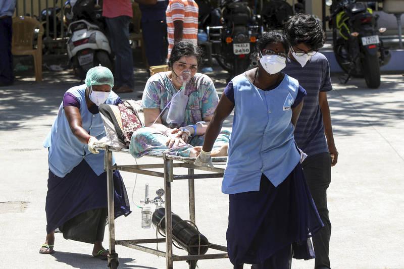 印度災情嚴重,總確診數即將突破2500萬。(美聯社)