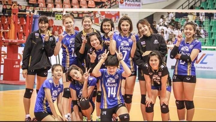 泰國國家女排隊原定本月25日參與世界排球聯賽,但於賽前驗出26人確診,泰國排協只好宣布退賽。(擷取自Volleyball Thailand FC粉專)
