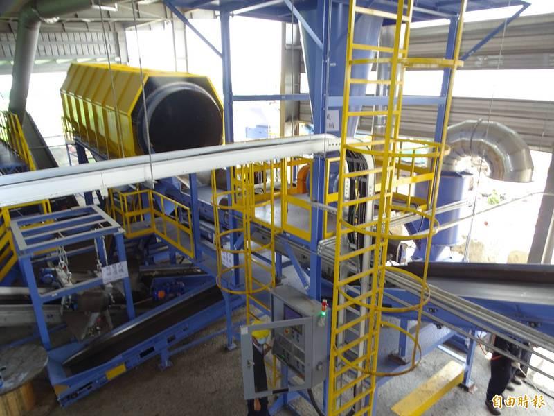 雲林縣ZWS系統可日處理150噸垃圾,與廠商合約期滿後,將再設第二座。(記者詹士弘攝)