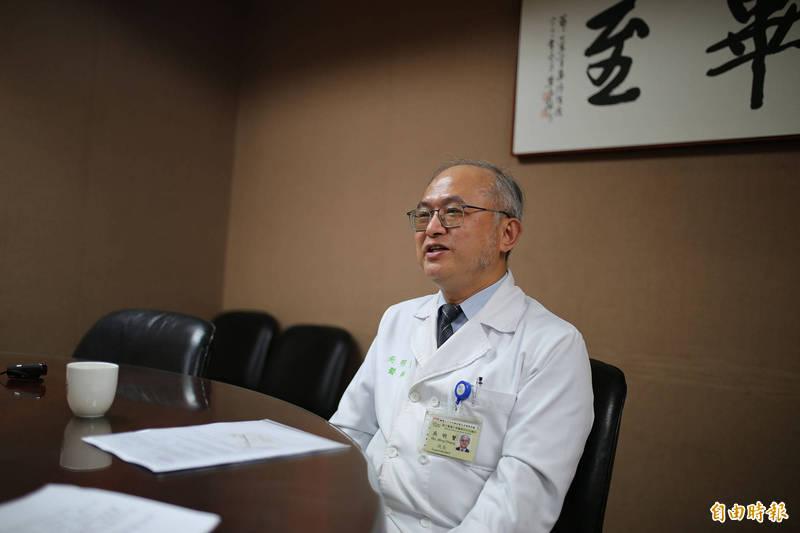 台大醫院院長吳明賢駁院內感染。(資料照,記者邱芷柔攝)