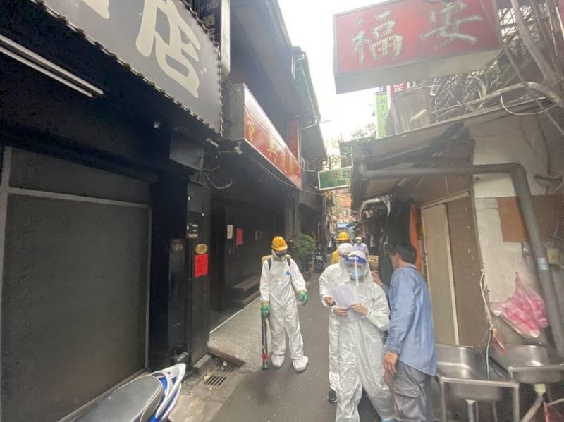 萬華阿公店成為此次疫情當中的重災區。(記者王冠仁翻攝)