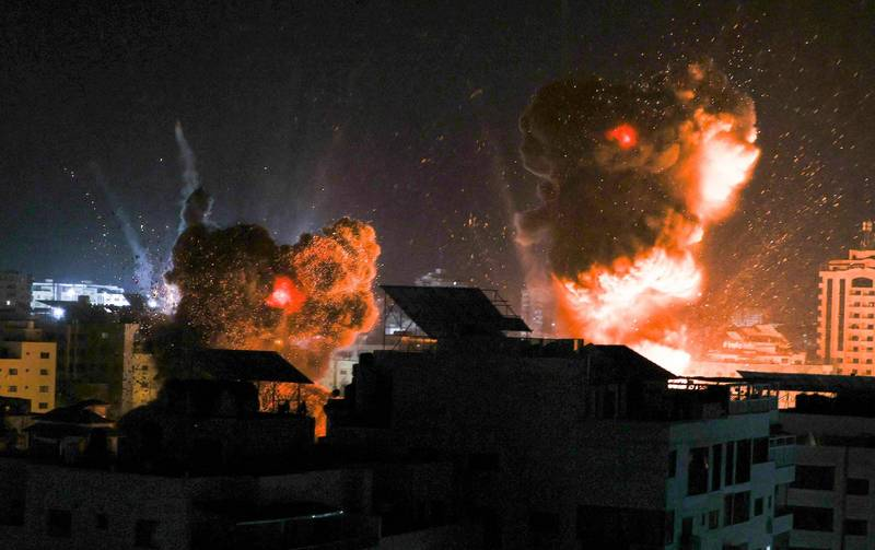 近來以巴衝突的戰爭畫面。(法新社)