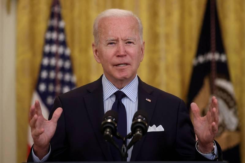 美國總統拜登(Joe Biden)17日表示,美國將在6月底前增加向海外增加釋出2千萬劑疫苗,讓現在對外供應的疫苗數達到8千萬劑。(路透)