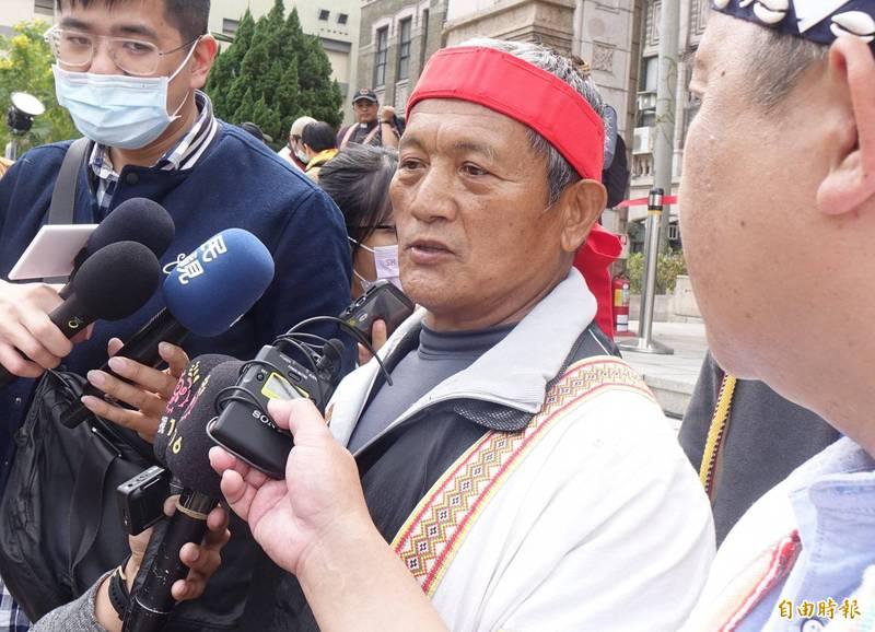 總統蔡英文今天特赦原住民獵人王光祿(圖)。(資料照)