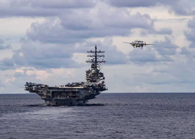 澳洲前少將表示,若中國決定以武力奪取台灣,將會與美國發生「非常大的戰爭」,中國也會因此攻擊澳洲。圖為美國航艦。(歐新社檔案照)