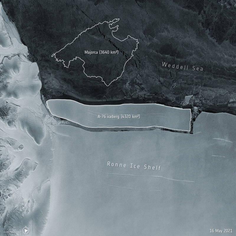 世界最大冰山問世。(路透)