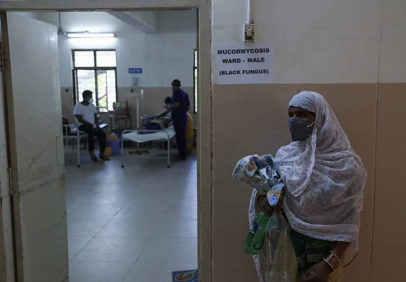 印度在今(20)日宣布,將在首都德里設立專治毛黴菌症的病房。(美聯社)