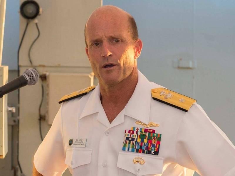美國第七艦隊司令、海軍中將默茨(William Merz)。(翻攝自美國海軍官網)