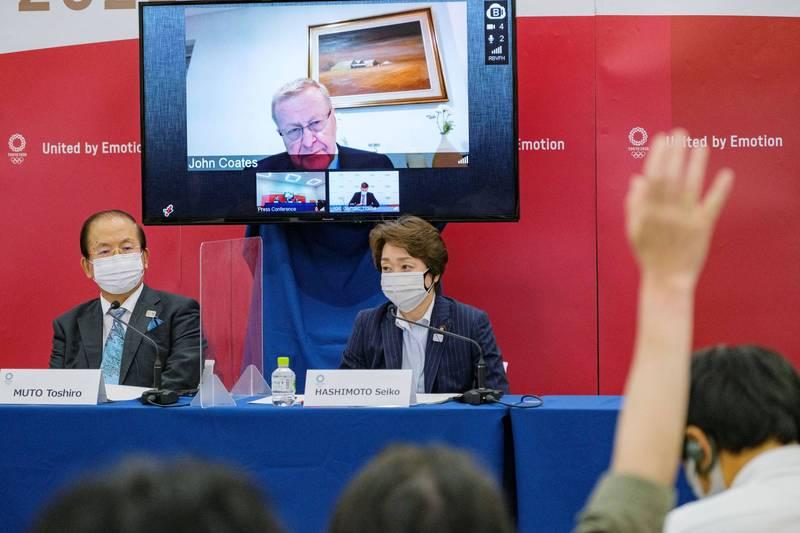 IOC副主席柯茲透過視訊說,即使在緊急事態宣言下,東奧還是可以舉辦。(路透社)