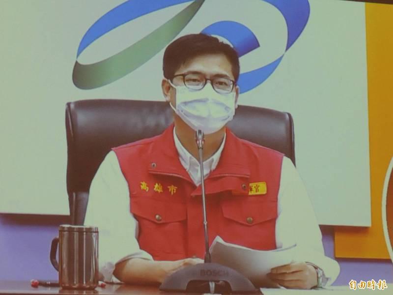 陳其邁強調,防疫旅館與專責病床數持續擴增中。(記者王榮祥攝)