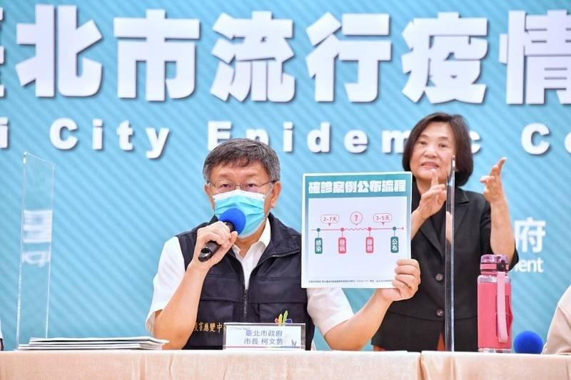 柯文哲表示,要直接關閉景點有困難,政府不能把百姓當賊處理。(台北市政府提供)