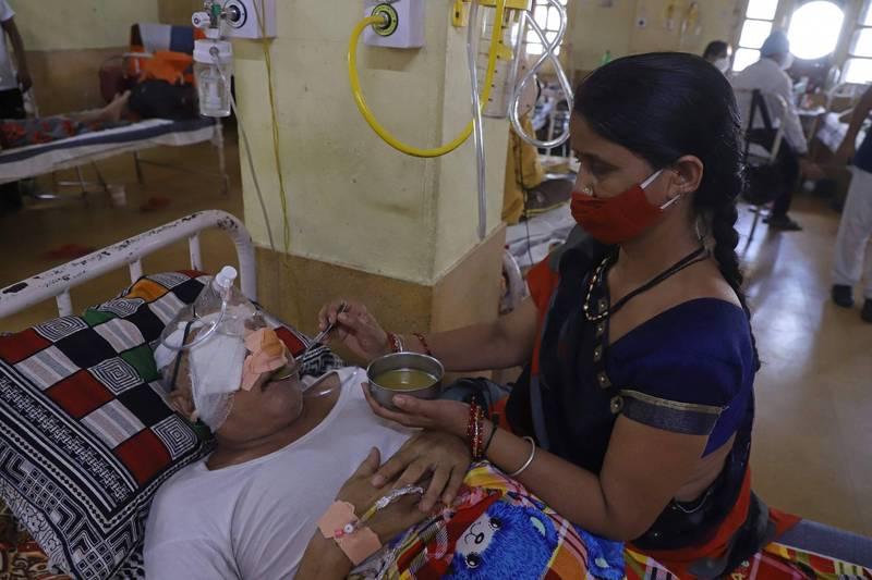 印度近幾個月開始流行「毛黴菌病」,死亡率高達50%。(法新社)