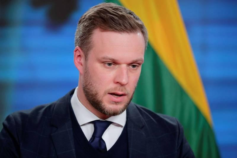 立陶宛外交部长蓝斯柏吉斯(见图)表示,立陶宛已退出中国与中东欧国家的「17+1」合作机制。(资料照,路透)(photo:LTN)