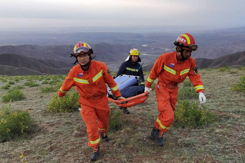 甘肅省百公里越野馬,不料卻遭遇劇烈天氣變化,造成21死慘況,中國許多越野好手都無法倖免。(法新社)