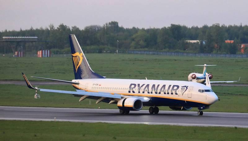 白罗斯23日称瑞恩航空的一架班机被安装了炸弹,强迫其改降至明斯克「接受检查」。(法新社)(photo:LTN)