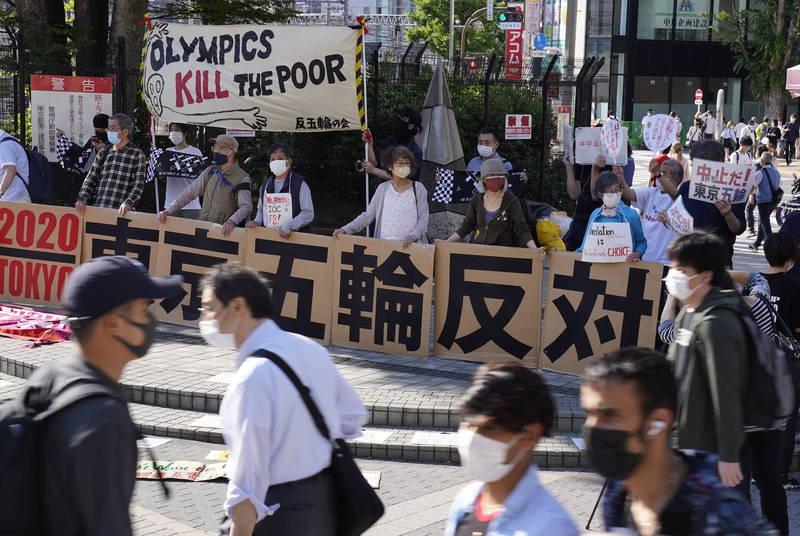 因為疫情延後一年的東京奧運面臨的反對聲浪愈來愈大。(歐新社)
