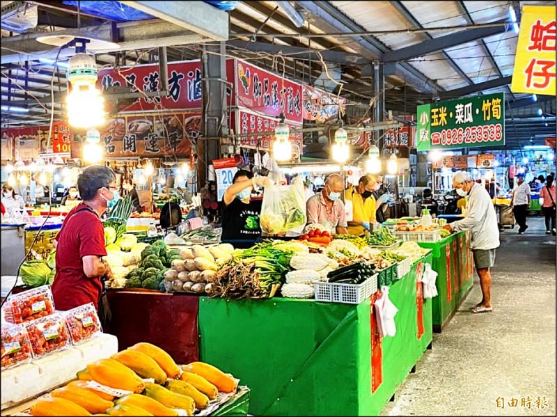 雲林縣府昨天推出八大紓困措施,傳統市場租金減免。(資料照,記者詹士弘攝)