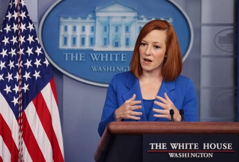 白宮新聞秘書莎琪(Jen Psaki)24日說,針對武漢病毒研究所外洩病毒的說法,目前沒有足夠訊息就病毒起源做結論,呼籲世界衛生組織(WHO)進行獨立的國際調查。(路透)