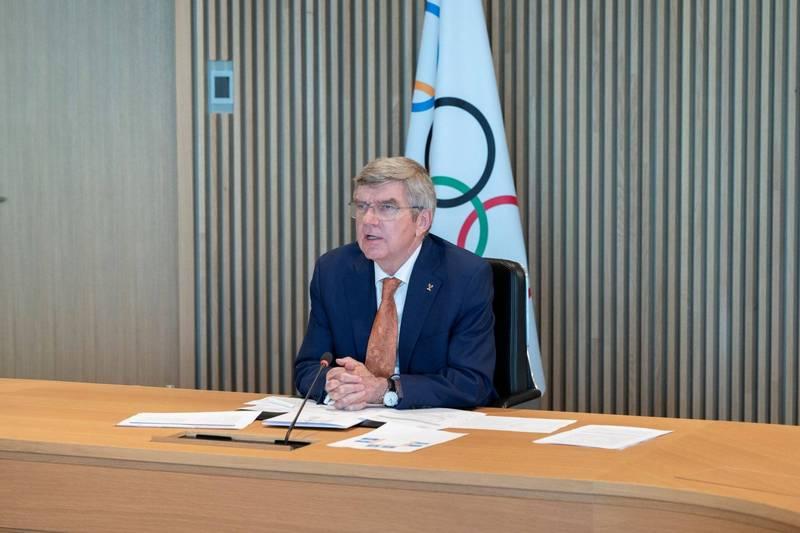 國際奧會主席巴赫的「犧牲說」,在日本網路引起一陣撻伐。(路透)