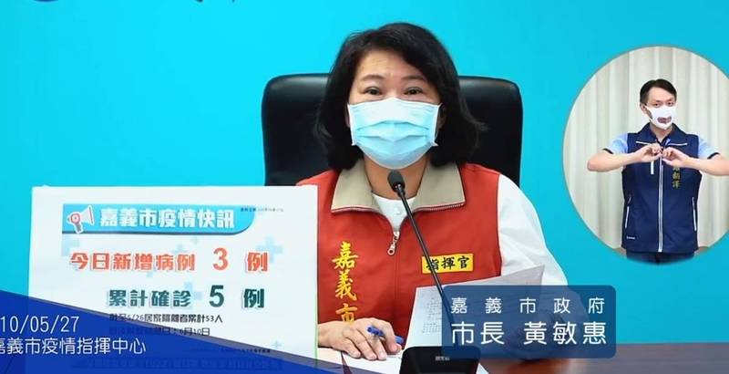 嘉義市長黃敏惠今天宣布,市府祭出11項紓困措施幫助民眾與產業度過難關。(記者丁偉杰翻攝)