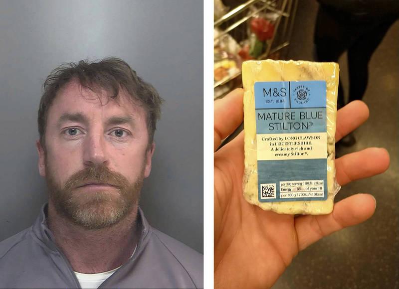 英國毒販斯圖爾特(見圖)在加密通訊系統上傳一張手持藍起司的照片,因此被警方掌握身分。(美聯社)