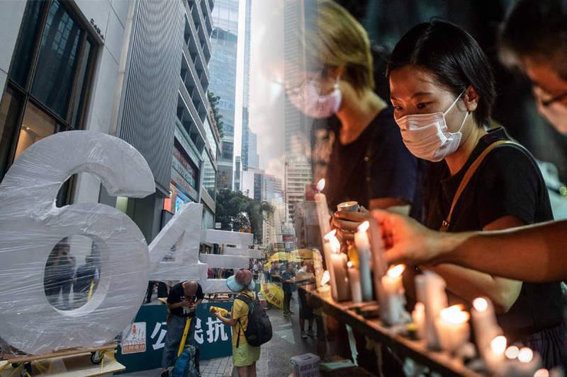 每年主辦六四追悼晚會的泛民主派「香港市民支援愛國民主運動聯合會」今(27)日表示,警方已發出反對通知書。(本報合成)