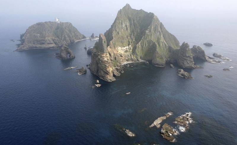 日韓主權爭議島嶼「獨島」(日方稱竹島)。(路透資料照)