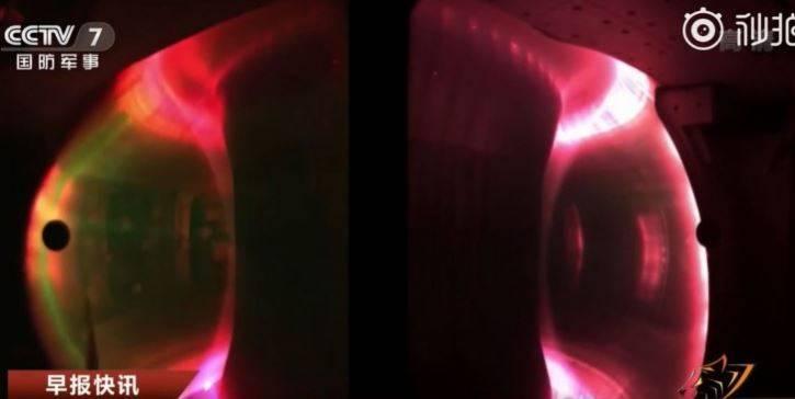 中国官媒28日声称,该国研发的「人造太阳」核融合装置取得重大突破性进展,在1.2亿℃的高温下运行100秒。(图取自中国央视微博)(photo:LTN)