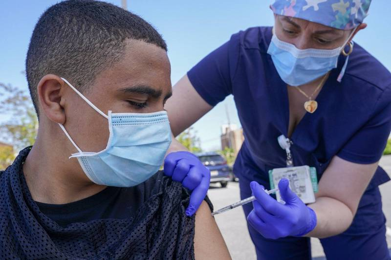 除了加州總獎金1億1650萬美元(約新台幣32.7億元)的大型抽獎活動外,洛杉磯也以主場季票作為獎品鼓勵大眾施打疫苗。(美聯社)