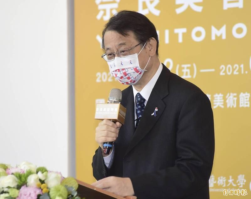 日本駐台代表泉裕泰在臉書發文鼓勵台灣,一同團結度過疫情。(資料照)