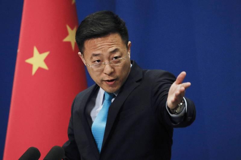 中國外交部發言人趙立堅表示,「台灣當局借疫苗『謀獨』不會得逞。」(美聯社)