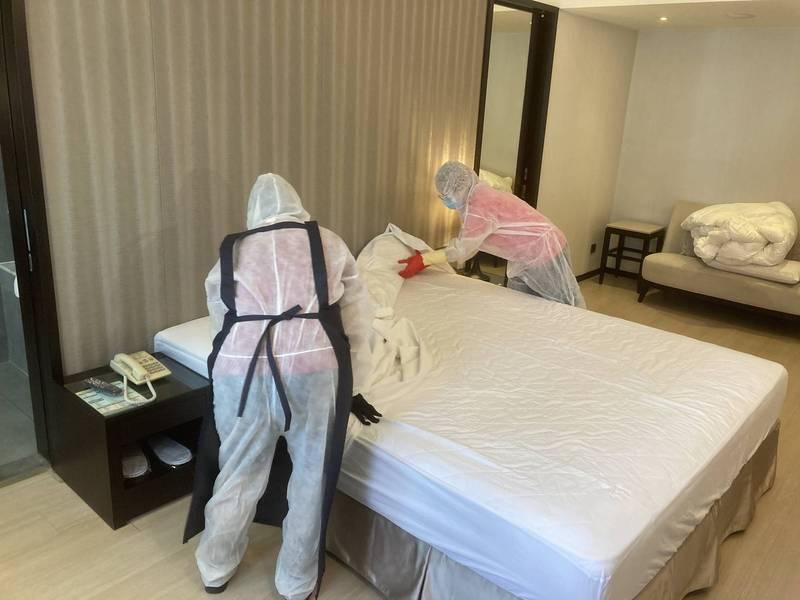 高雄市防疫旅館量能充足,目前已有61家、達4203房。(記者葛祐豪翻攝)