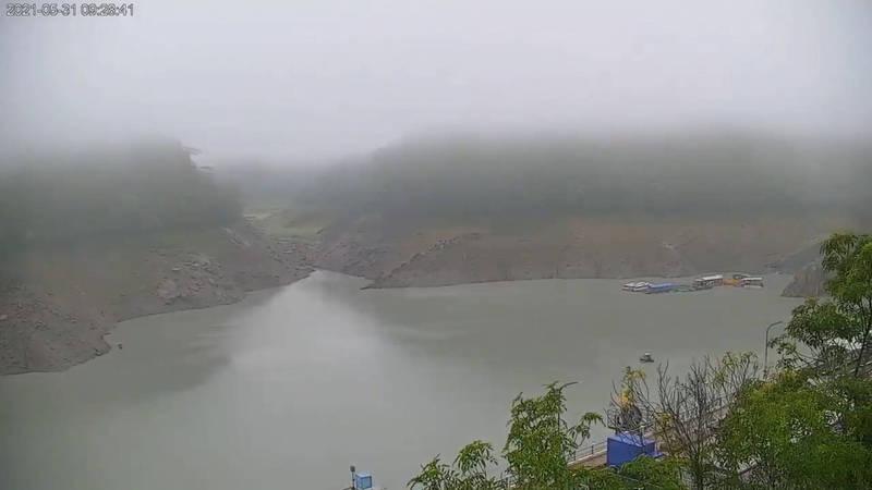 受惠梅雨鋒面,石門水庫蓄水量可望一日翻倍。(圖擷取自石門水庫即時影像)