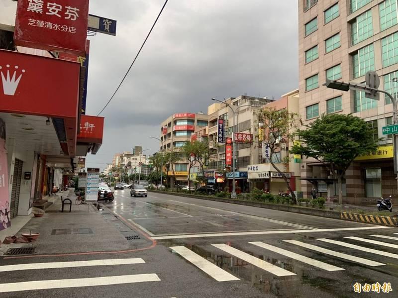 台中市清水區傳出雨天兒虐事件。(記者張軒哲攝)