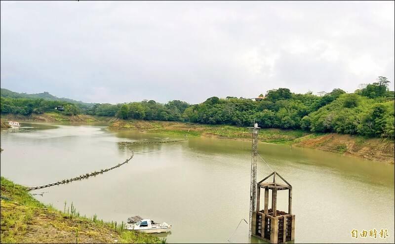 苗縣大雨,明德水庫進帳多,蓄水量上看40%。(資料照)